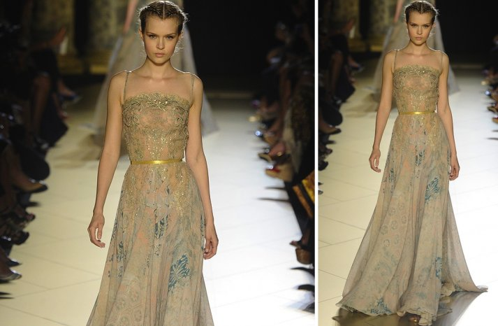 runway to white aisle wedding dress inspiration elie saab couture fall 2012 8