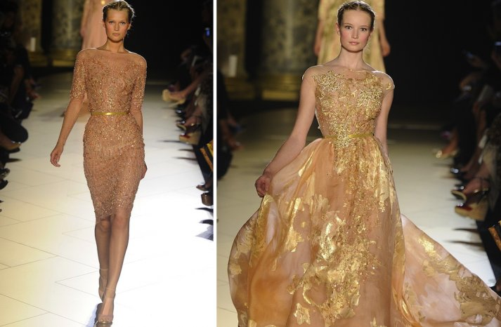 runway to white aisle wedding dress inspiration elie saab couture fall 2012 11