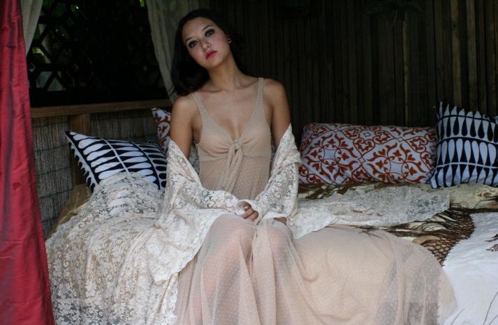 romantic bridal lingerie for bohemian bride polka dots lace
