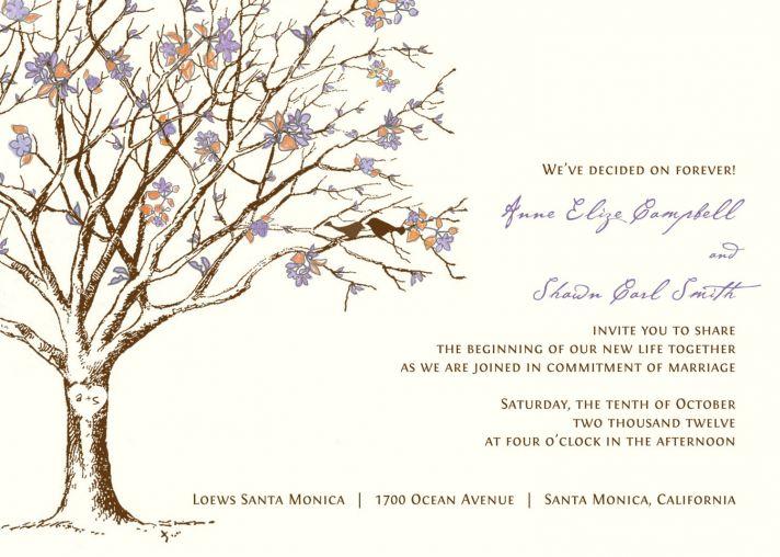 romantic wedding invitation peach ivory lilac