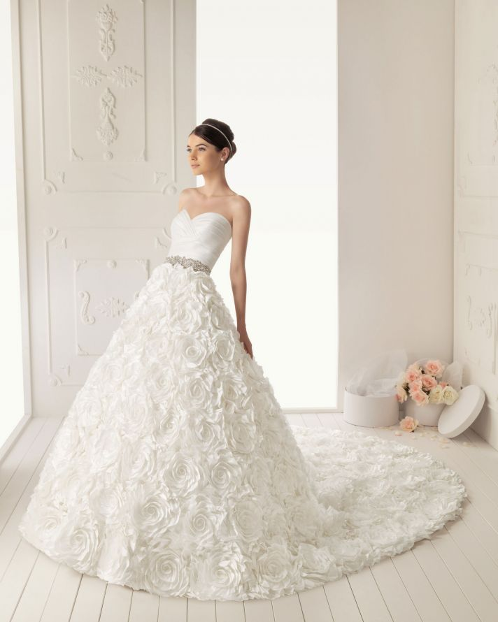 2013 wedding dress Aire Barcelona bridal gowns roman
