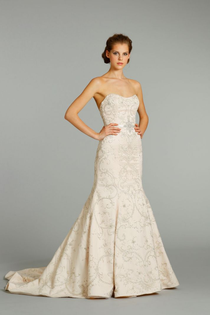 fall 2012 wedding dress Lazaro bridal gowns 3262 f