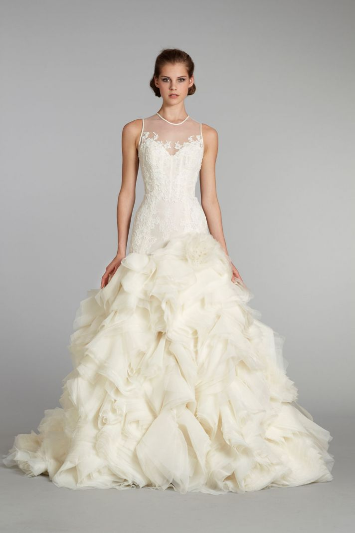 fall 2012 wedding dress Lazaro bridal gowns 3253