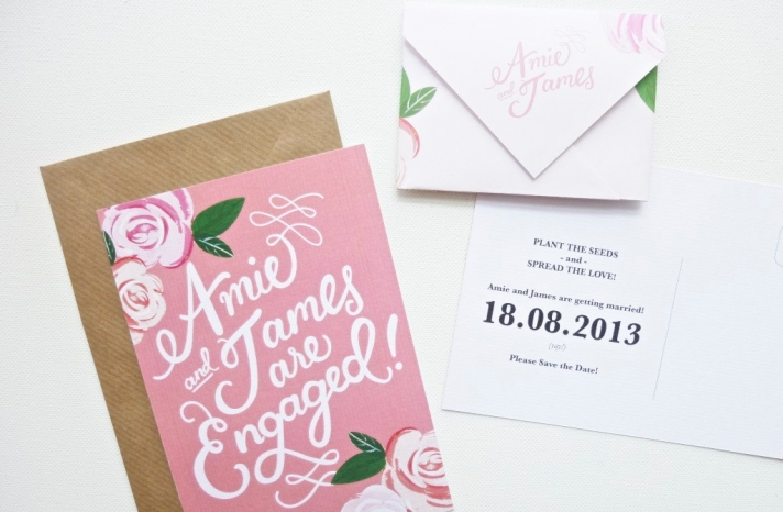gorgeous wedding invitations hand calligraphy wedding stationery romantic save the date