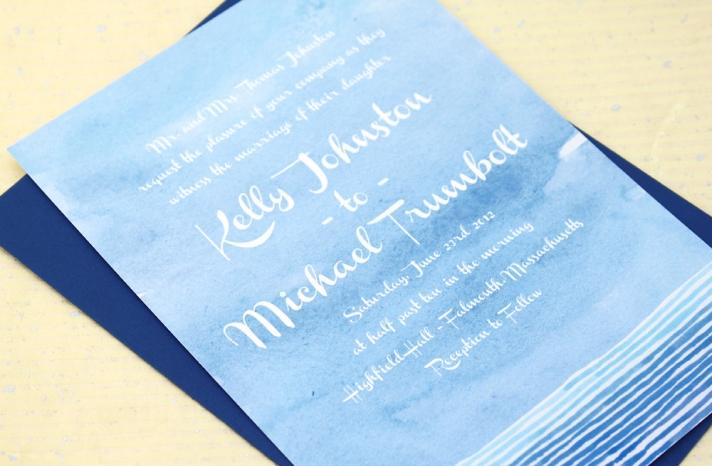wedding color inspiration navy blue bridal wedding finds watercolor invitation