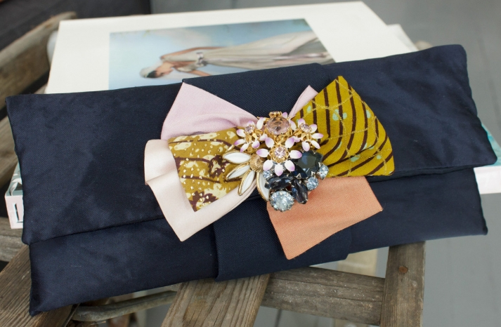 navy clutch for bridesmaids