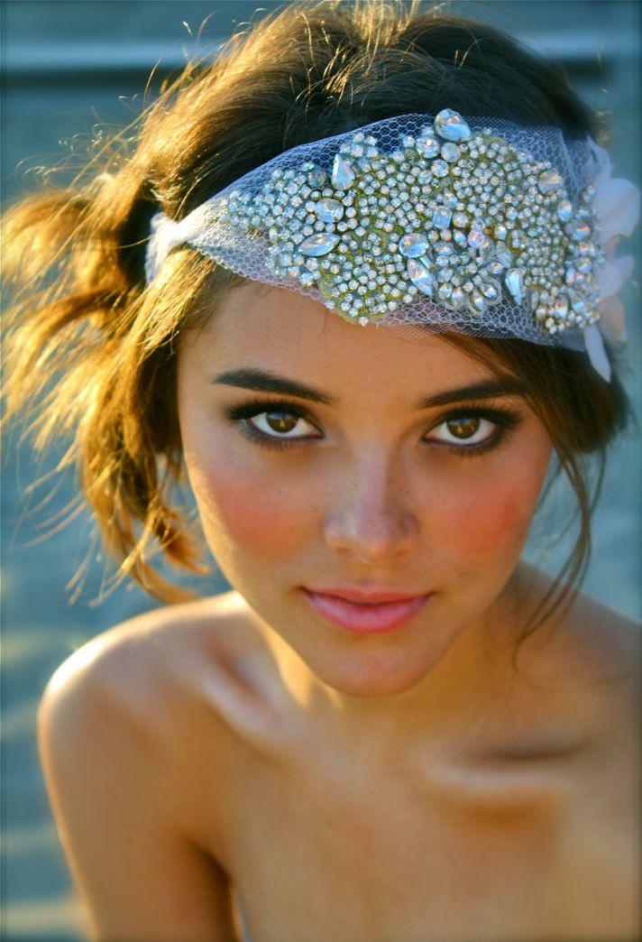 elegant wedding jewelry custom bridal bling accessories embellished headpiece
