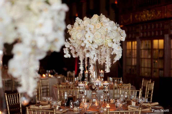 10 white wedding flowers we love elegant orchid reception centerpiece