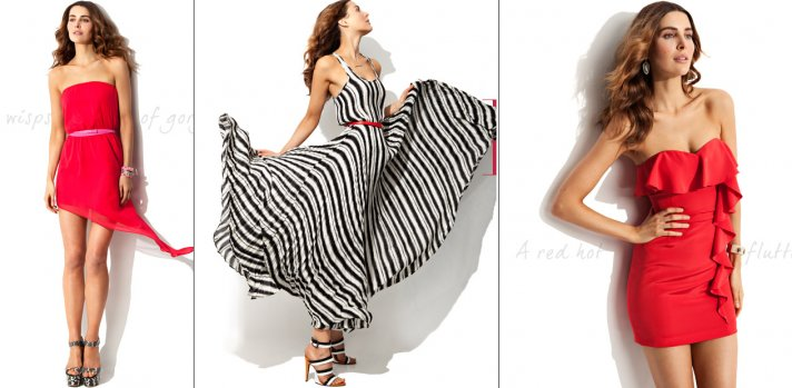 havana nights wedding theme red black white bridesmaid dresses
