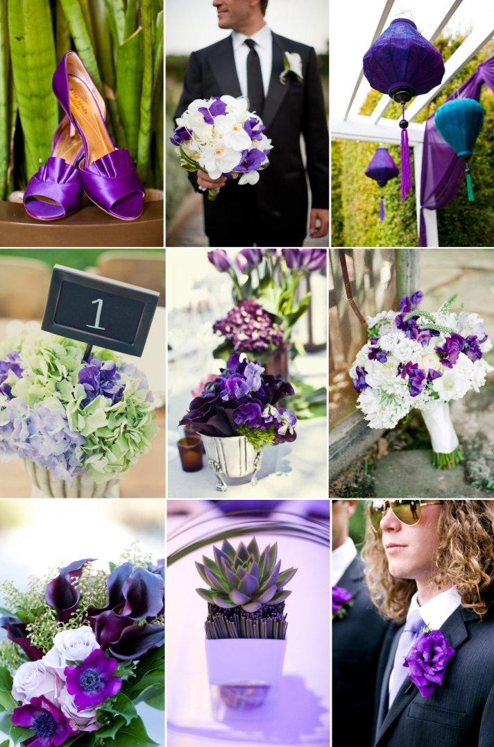 Purple And Green Wedding Inspiration Spring Summer Flowers