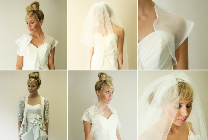 wedding accessories by Carol Hannah bridal belts veils boleros