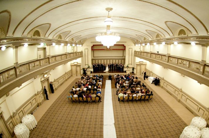 Virginia wedding ornate ballroom for ceremony venue