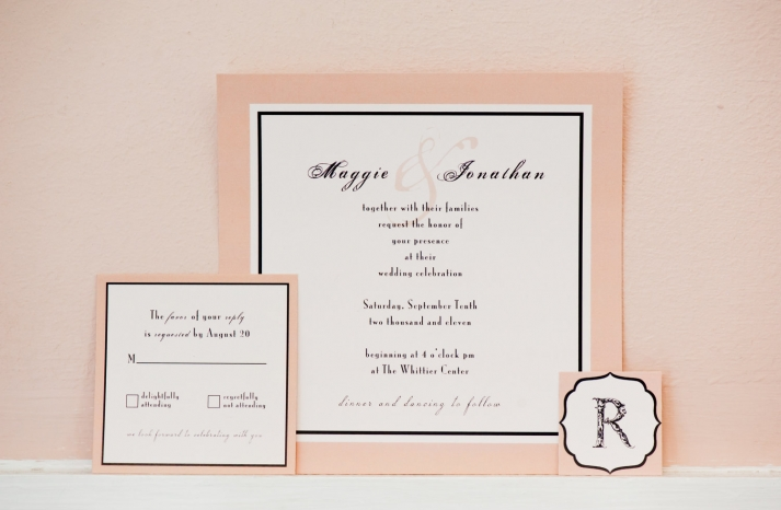 peach wedding pretties for romantic weddings printable save the dates