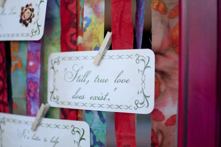 Parisian romance wedding inspiration handmade weddings Amelie theme escort cards