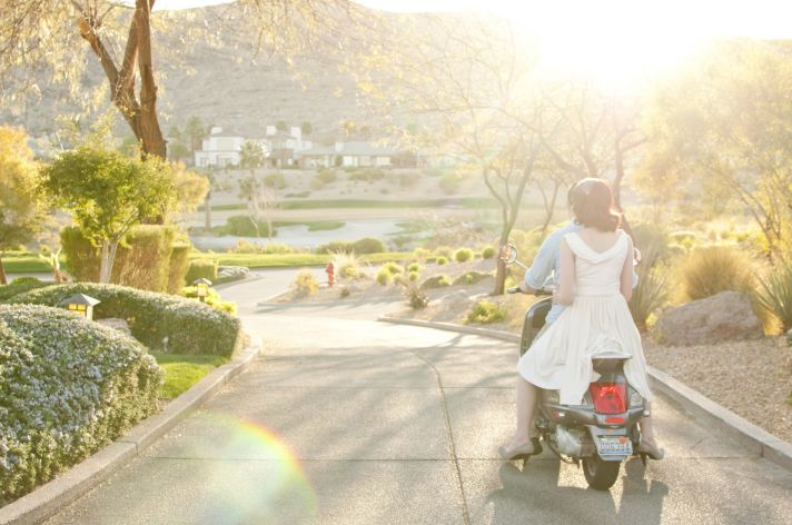 Parisian romance wedding inspiration retro bride