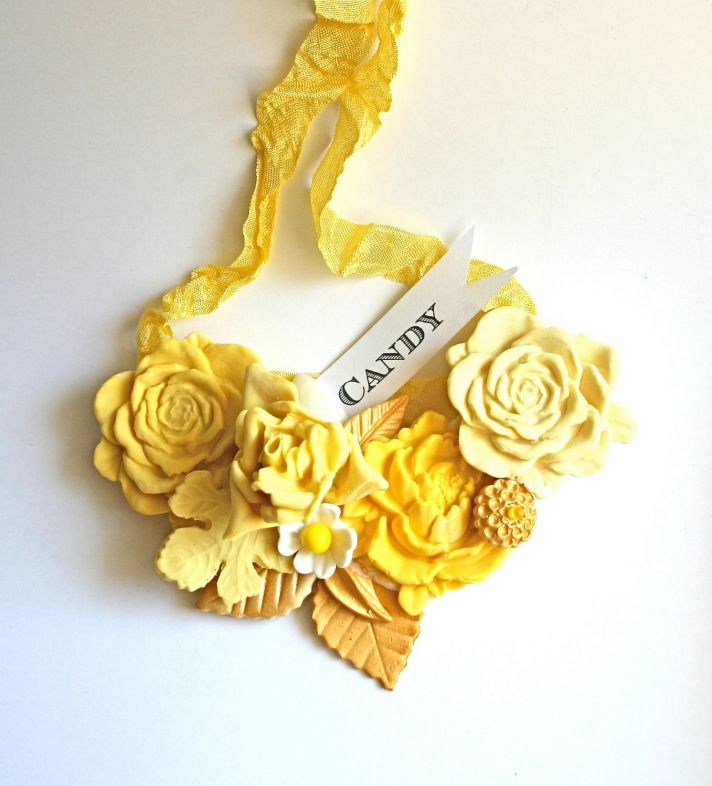 sweet wedding finds yellow candy bridal necklace