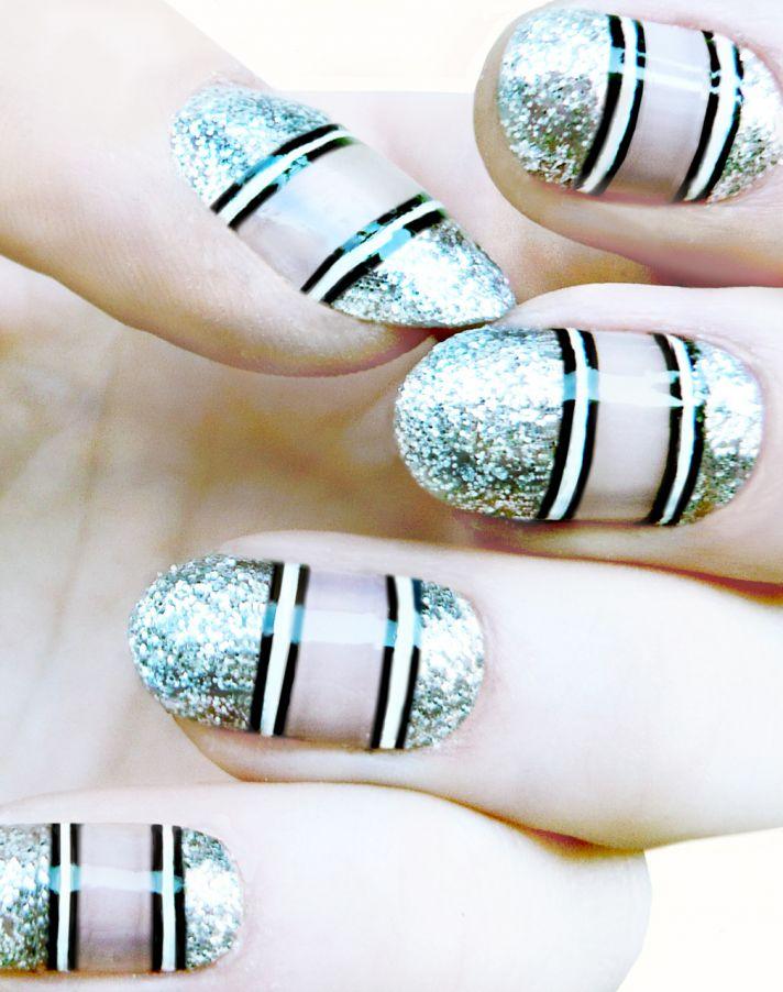wedding worthy manicures for the fashion forward bride metallic stripes