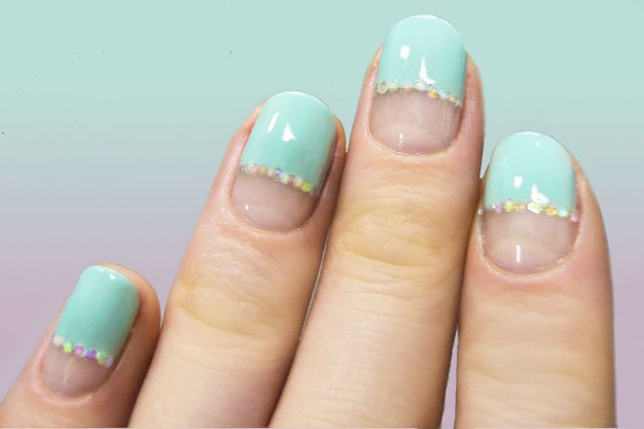 wedding worthy manicures for the fashion forward bride nude teal