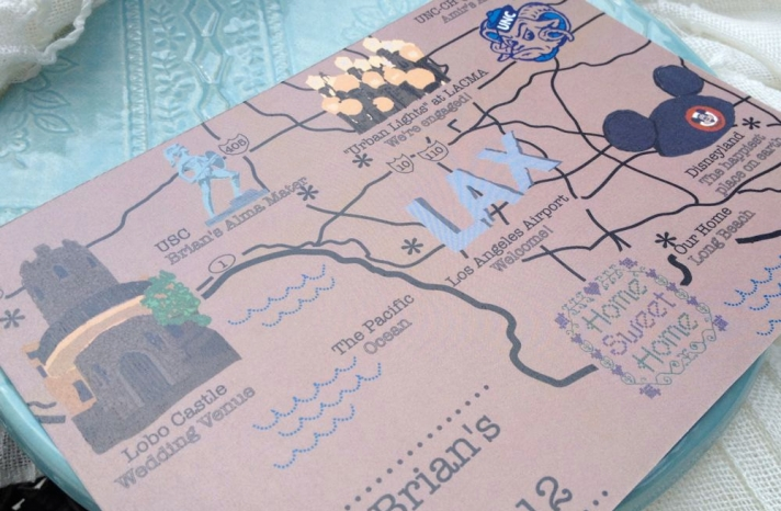 map inspired weddings travel themed wedding invitations and paper from Etsy Disney