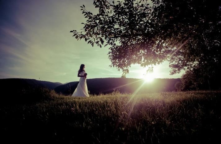 priceless wedding photo bridal portrait outside