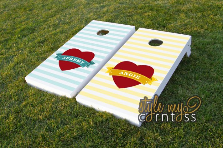 heart infused wedding ideas cornhole