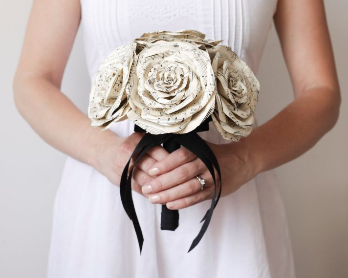 music themed wedding accessories ceremony reception decor bridal bouquet