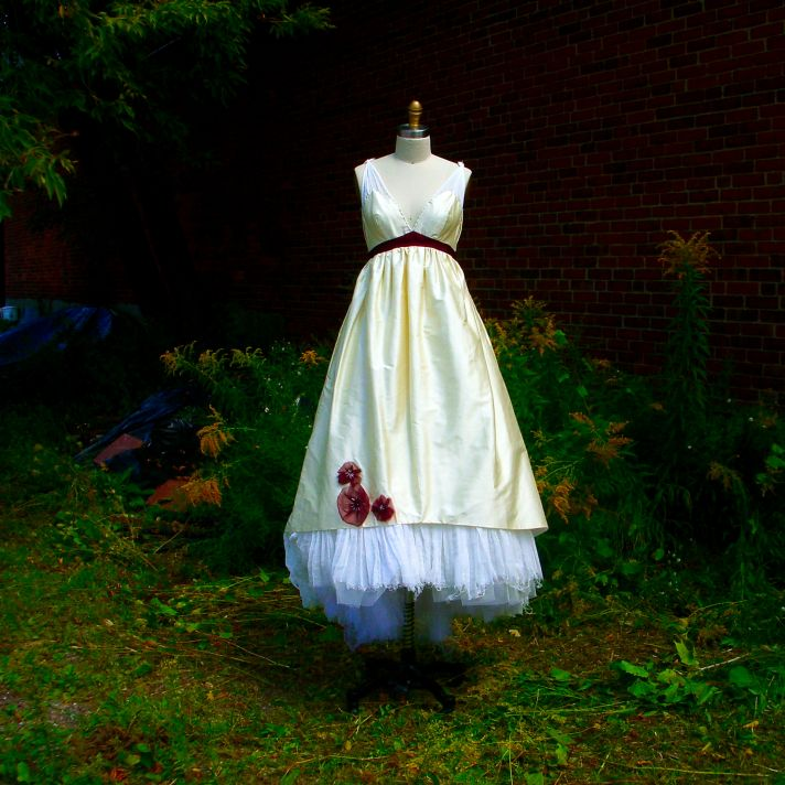 unique wedding dresses non white bridal gown v neck
