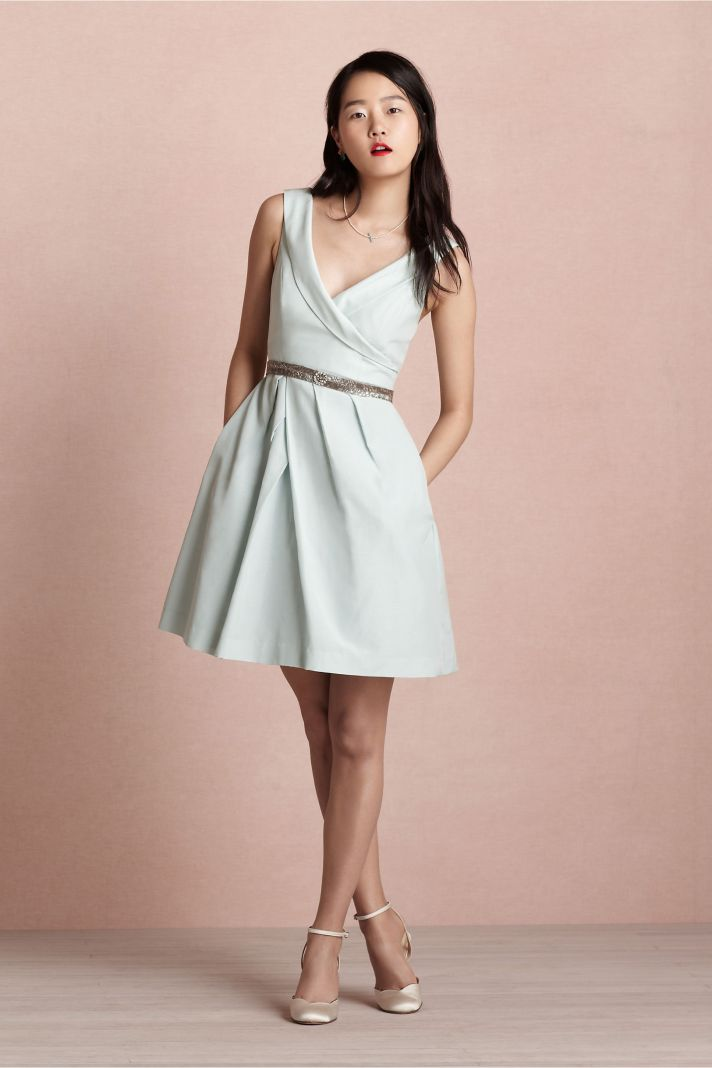 covetable bridesmaid dresses from BHLDN 2013 bridal party style light gray belted