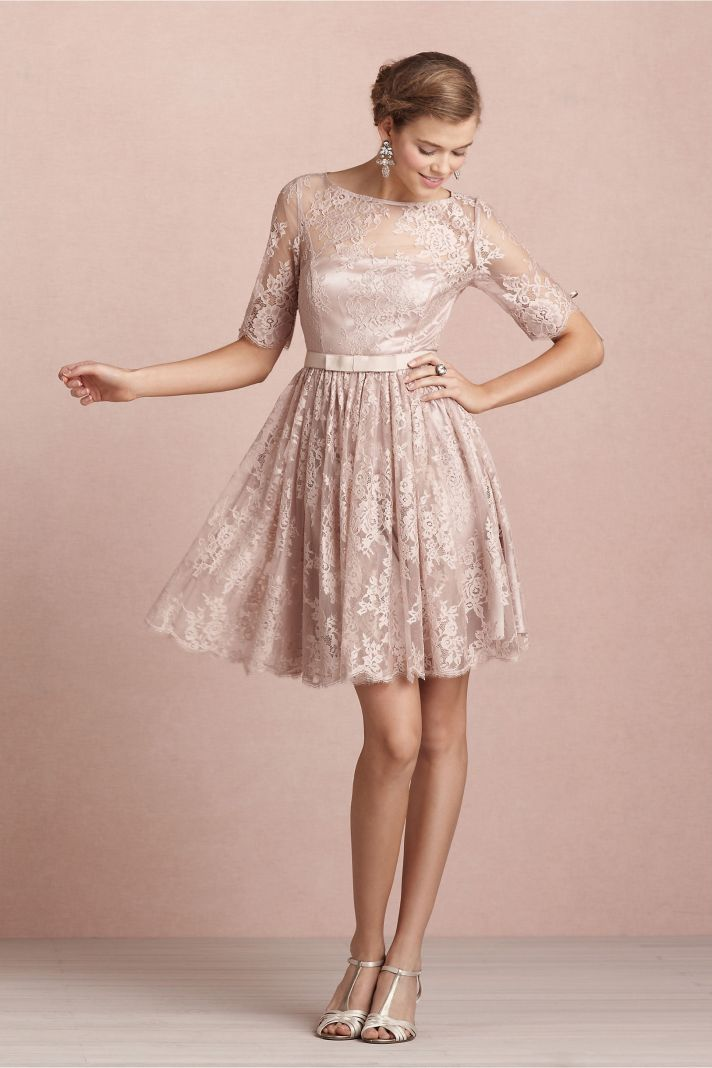 covetable bridesmaid dresses from BHLDN 2013 bridal party style blush lace