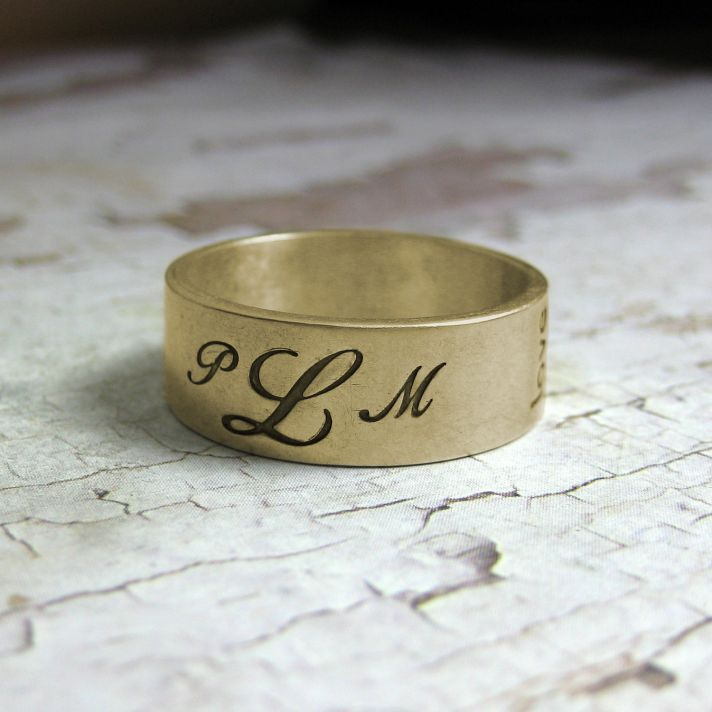 wedding bands your groom will love unique wedding rings from Etsy 5
