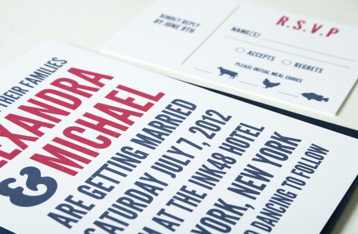 wedding invitations for modern weddings Etsy wedding finds typography