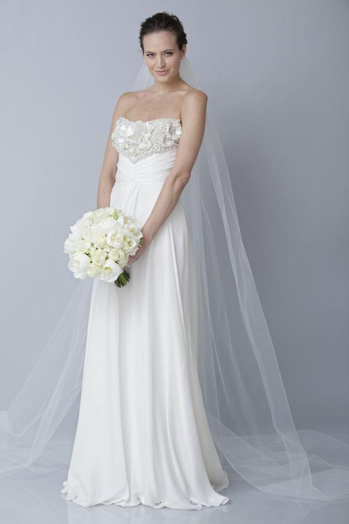 2013 wedding dress by Theia bridal gowns grecian draped