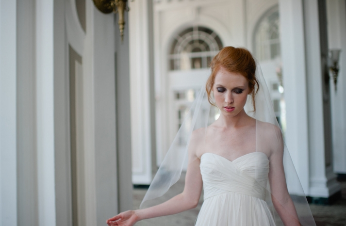 tulle wedding accessories for romantic brides from Etsy classic veil