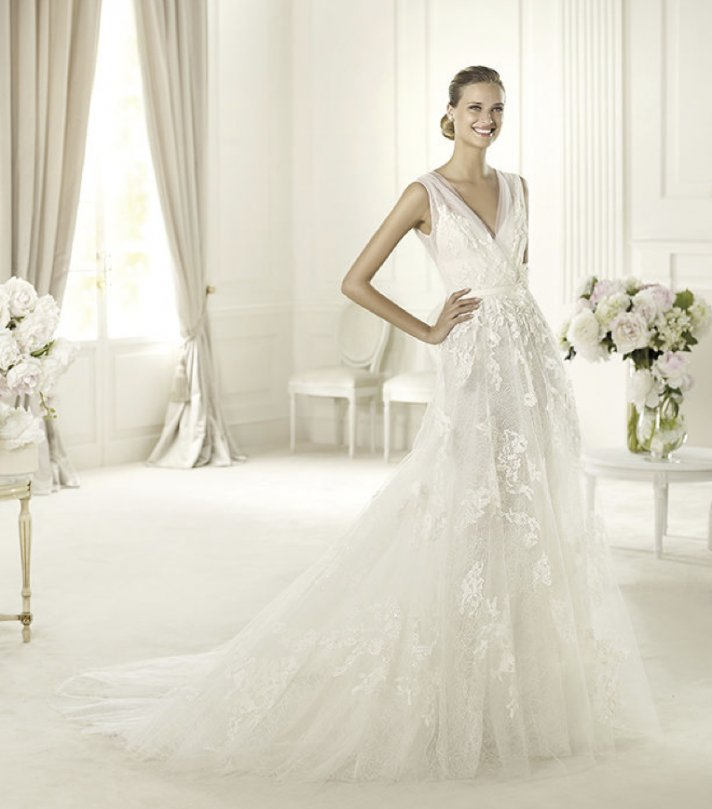 46d5a35c2 2013 wedding dress Elie Saab bridal collection for Pronovias Simone a