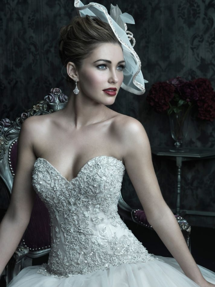 2013 wedding dress Allure Couture bridal gowns c222