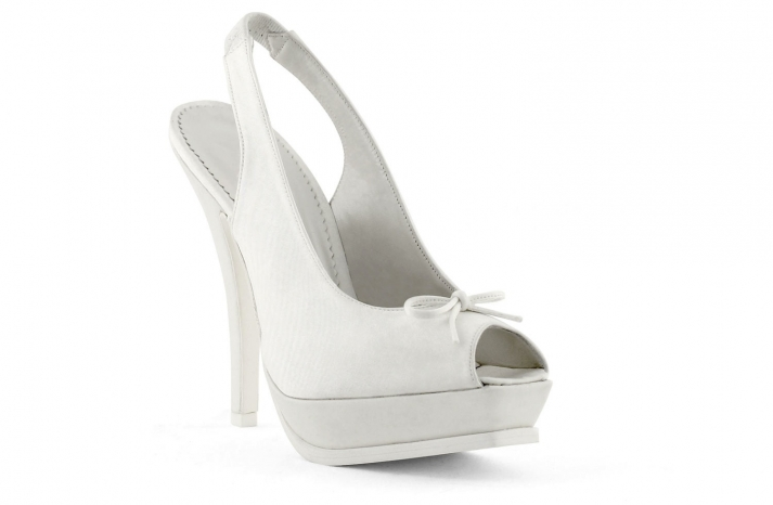 wedding shoes bridal heels by Rosa Clara 2013 white ballet platforms