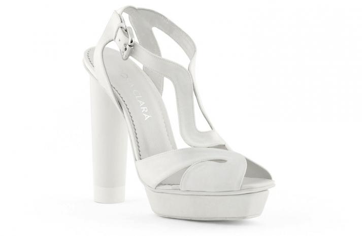 wedding shoes bridal heels by Rosa Clara 2013 chunky sandal