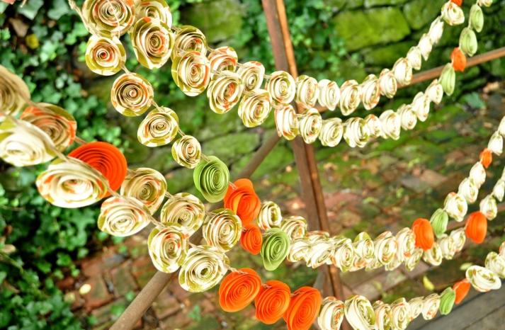 handmade wedding finds for fall weddings paper flower garland