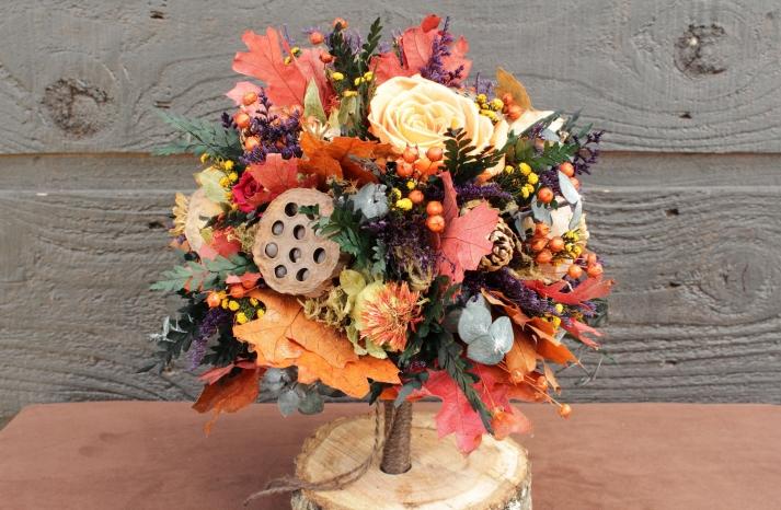 handmade wedding finds for fall weddings bridal bouquet alternative 1