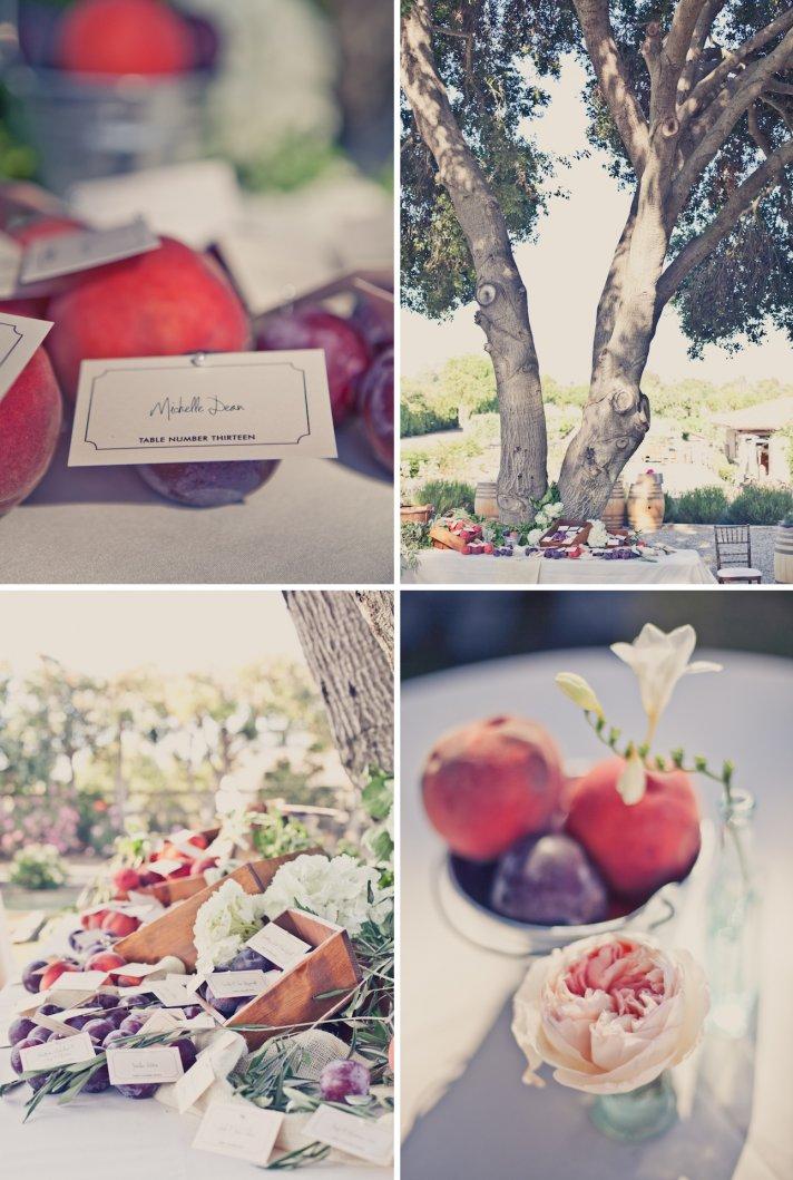 elegant outdoor weddings peach lavender wedding colors fruit infused decor