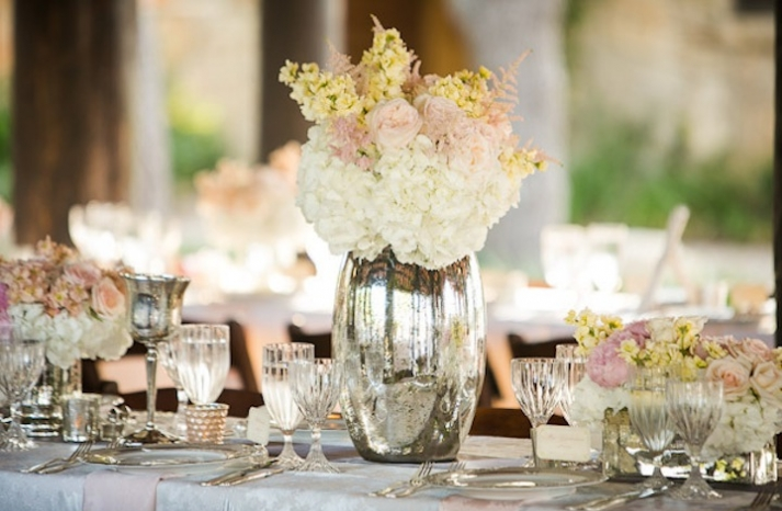 mercury glass wedding decor elegant reception 1