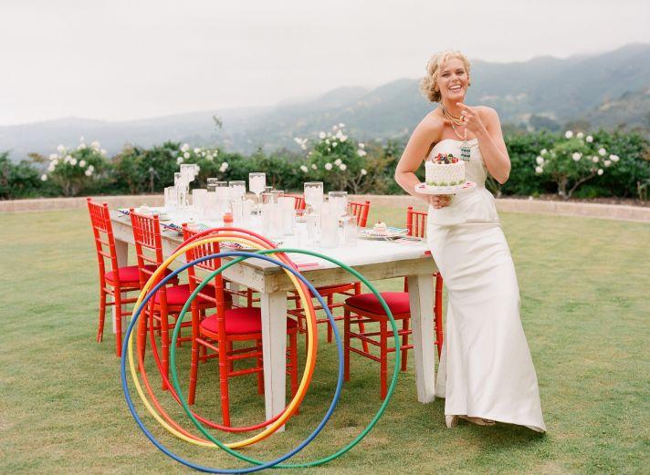 classic beach bride mermaid wedding dress statement necklace