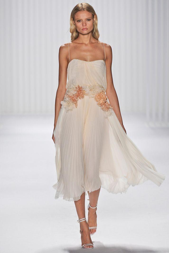 catwalk to white aisle wedding style inspiration for brides New York Fashion Week j mendel