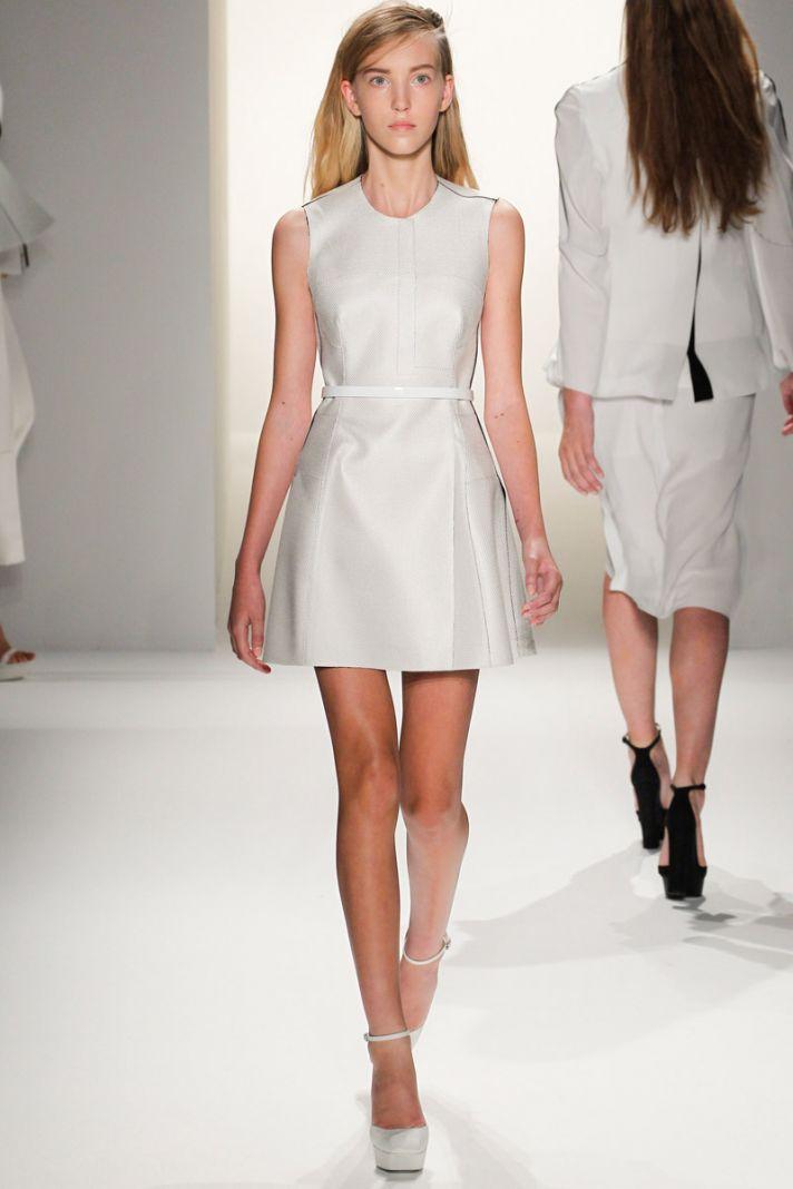 catwalk to white aisle wedding style inspiration for brides New York Fashion Week Calvin Klein 1