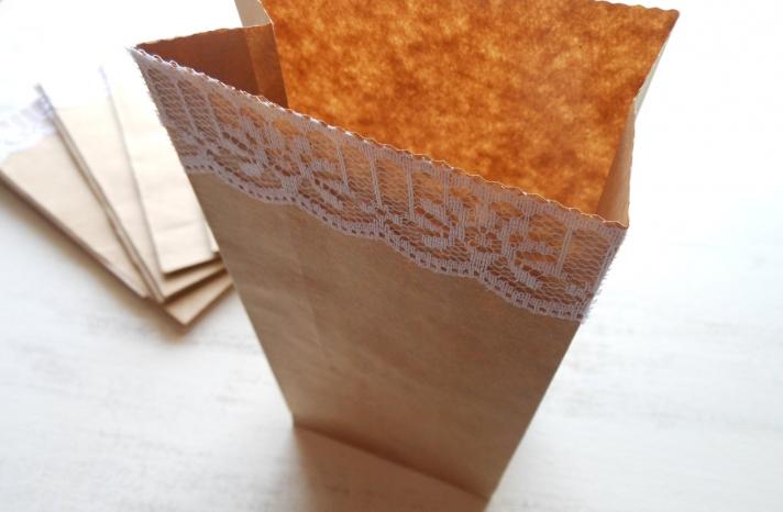 handmade wedding stationery decor using kraft paper Etsy weddings lace trimmed