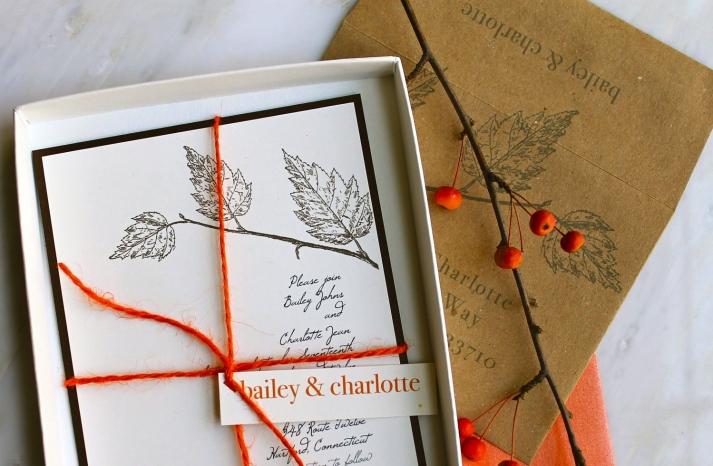 handmade wedding stationery decor using kraft paper Etsy weddings fall love