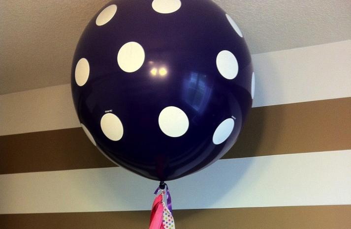 wedding inspiration from Etsy polka dots balloon