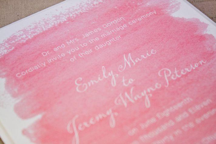watercolor wedding invitations handmade weddings by Etsy romantic pink