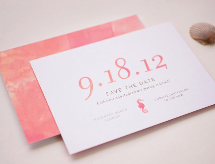 watercolor wedding invitations handmade weddings by Etsy save the date