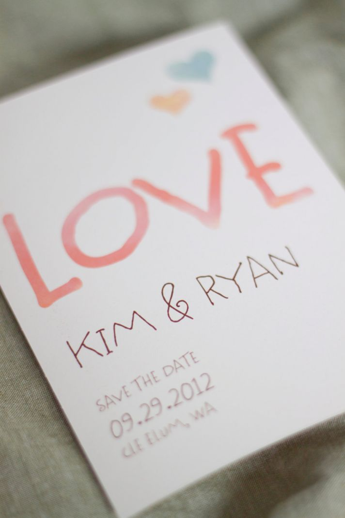 watercolor wedding invitations handmade weddings by Etsy modern pastel save the date